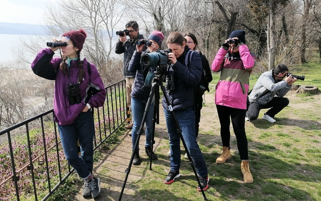Хора, наблюдаващи птици
